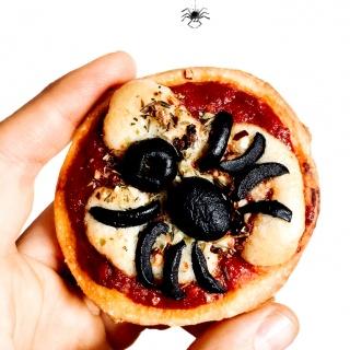 Mini Spinnen-Pizza – Schauriges Vergnügen (Halloween Special #2)