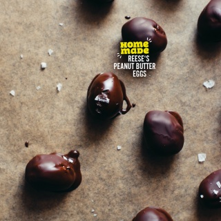 Homemade Reese's Peanut Butter Eggs – Schoko-Eier mit süß-salziger Erdnuss-Füllung