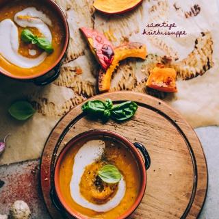 Samtige Kürbissuppe mit Kokos und Ingwer
