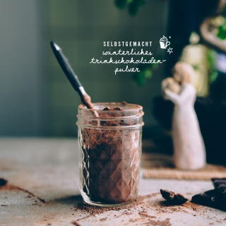 Winterliches Trinkschokoladen-Pulver