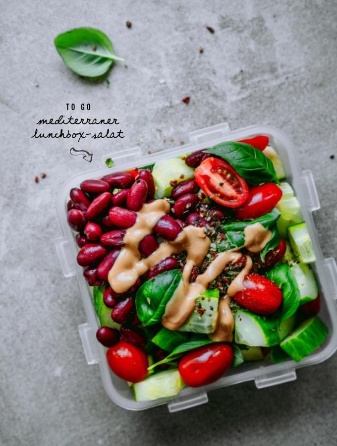 Mediterraner Lunchbox-Salat to go