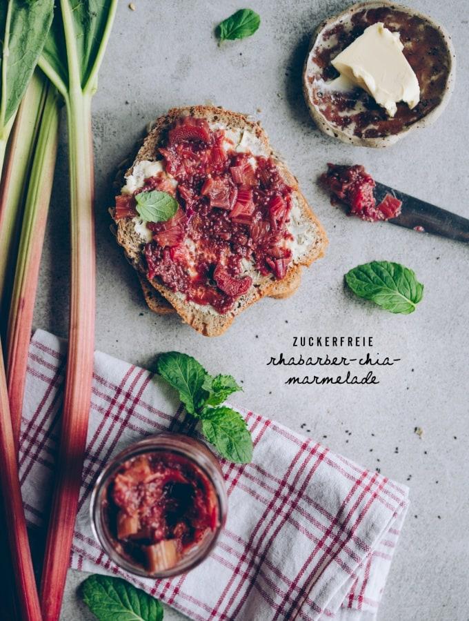 Zuckerfreie Rhabarber-Chia-Marmelade