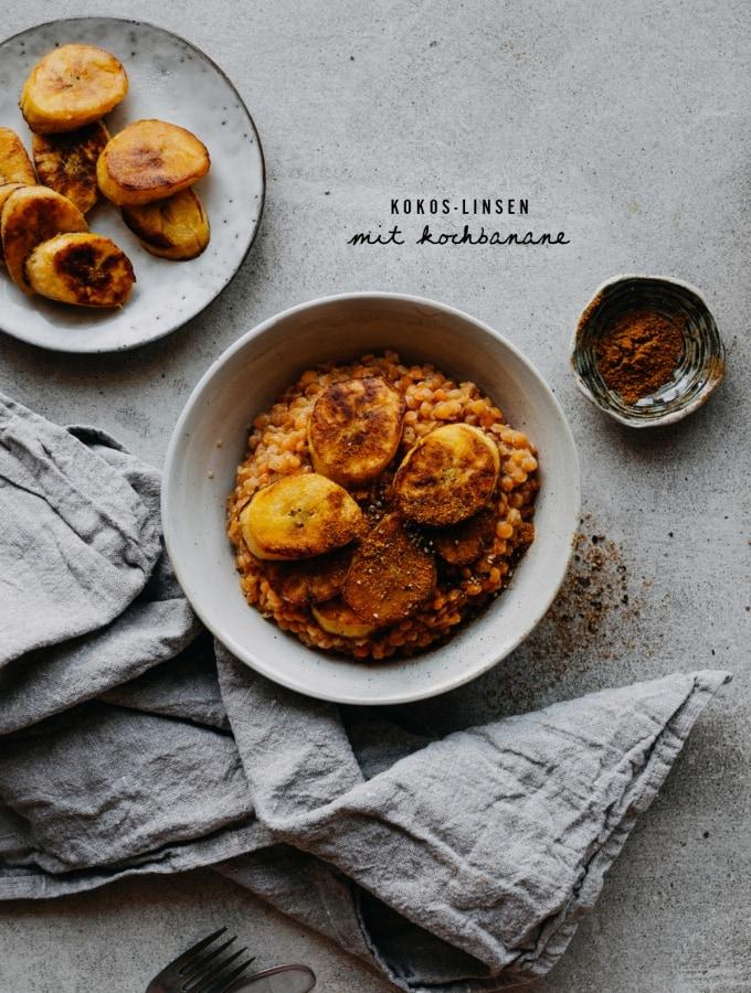 Kokos-Linsen mit Kochbanane – minimale Zutaten, maximaler Geschmack!